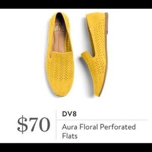 DV8 Aura Floral Perforated Flats Size 7